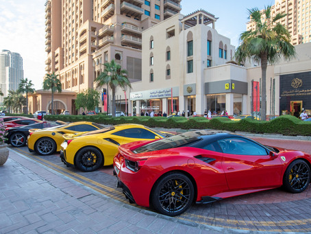 Prancing Horse enthsusiasts in Qatar parade in homage to the brand's heritage