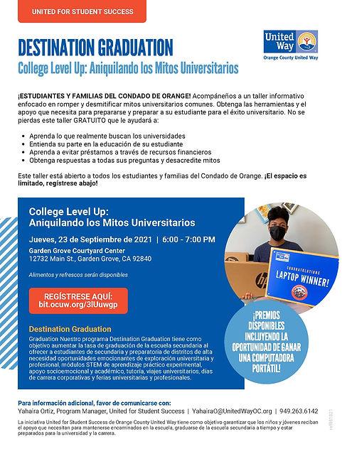 U4SS_Destination Graduation_College Level Up - Demystifying College Myths_LINKD_SPN_ref081