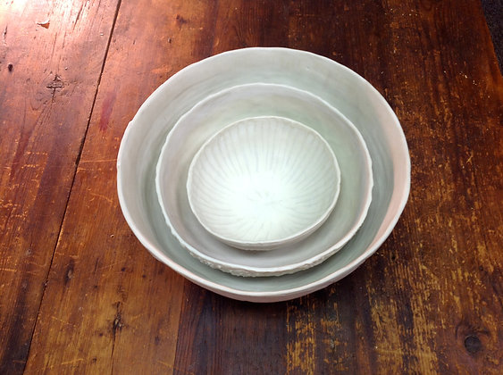 Porcelain Nesting Bowls - Set of 3 - Snow