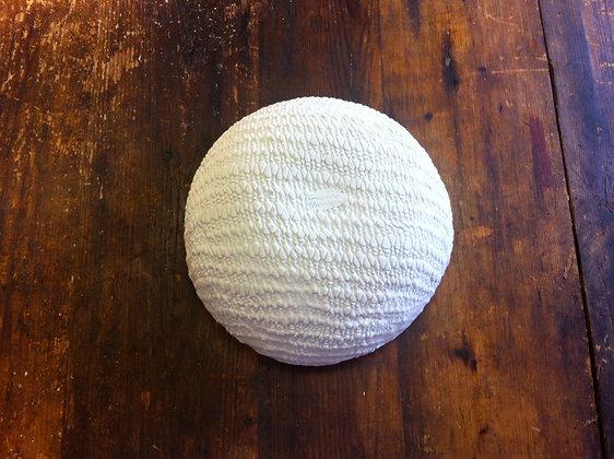 Large Porcelain Bowl - Snow/Knit