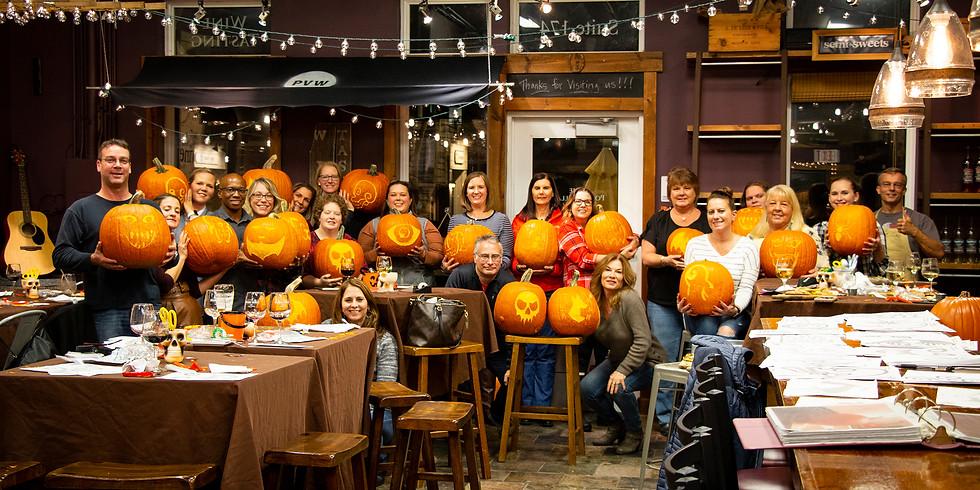 Wine & Pumpkin Carving #2