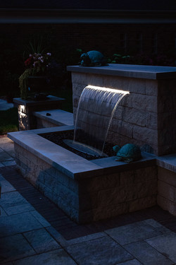Awarded Hardscape with Water Feature