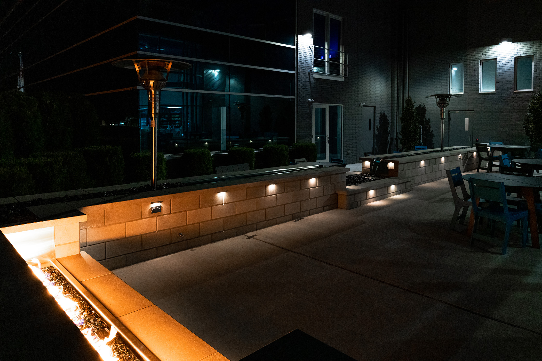 Commercial Patio Lights & Firepit