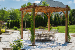 Custom Backyard Pergola and Patio