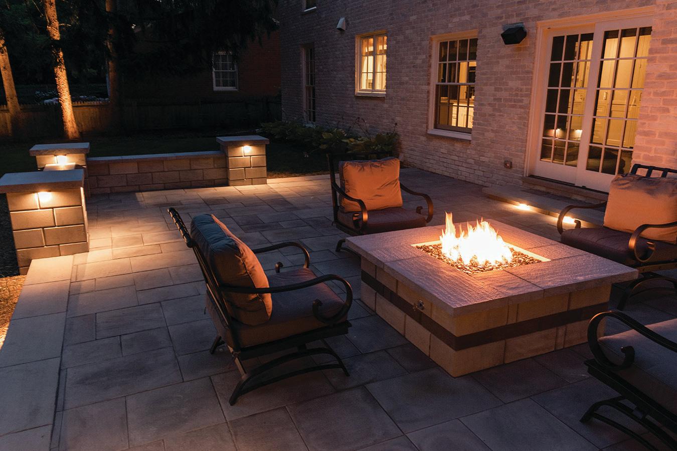 Cozy Backyard Patio Firepit