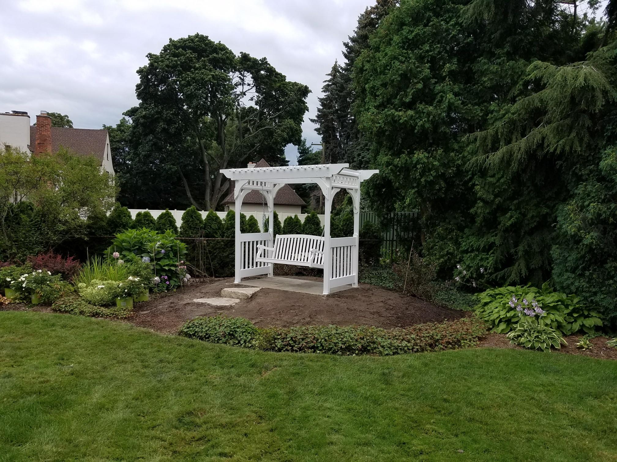 Backyard Pergola Swing
