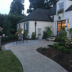 Front Patio Design with Step Lights