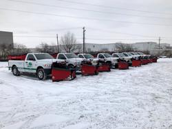 Salt Trucks Lined Up