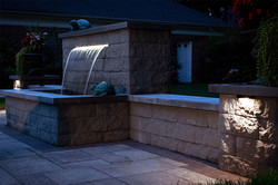 Beautiful Backyard Water Feature