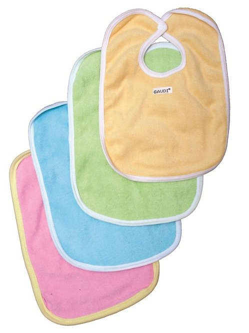 Babero towel liso abrojo