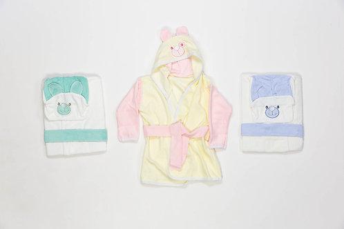 Salida de baño bordada bebe