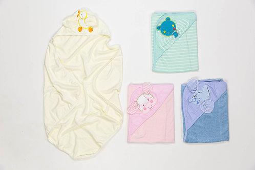 Capucha towel rayada bordada