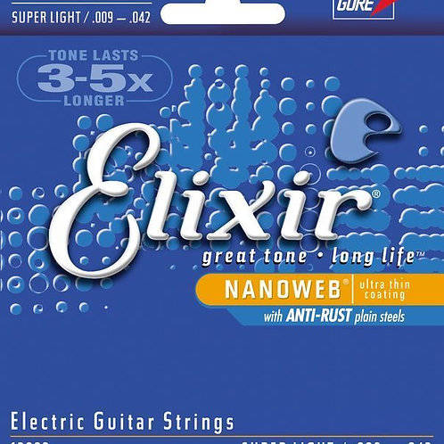 Elixir Steel Electric Guitar Strings (Super Light)