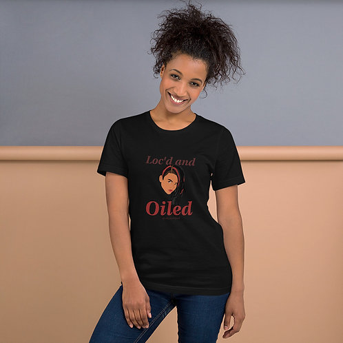Loc'd and Oiled Short-Sleeve Unisex T-Shirt