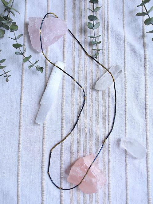 Cosmos - beaded necklace