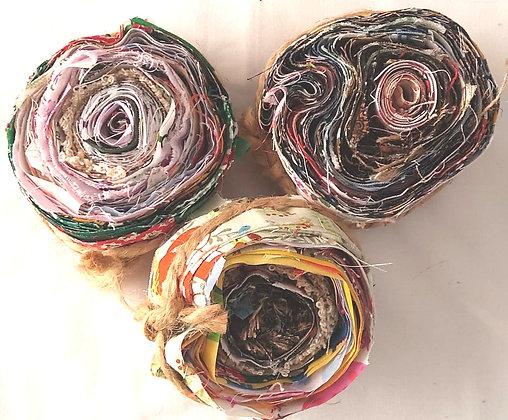 Fabric scrap rolls