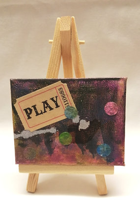 Play textile fine art mini canvas