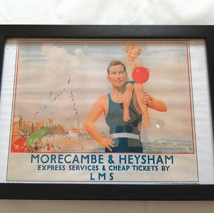 Vintage railway poster for Morecambe and Heysham