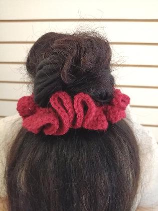 Crocheted hair scrunchies