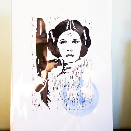 Princess Leia from Star Wars unframed A3 print