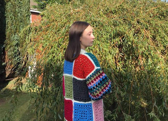 Hand Crocheted Granny square cardigan