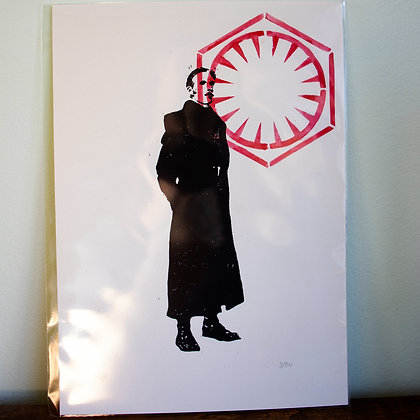 A4 General Hux from Star Wars unframed lino print