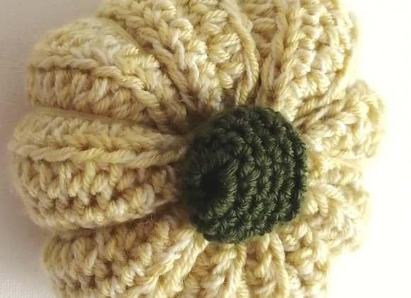 Cream crochet pumpkin