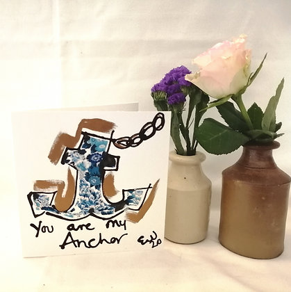 You are my Anchor ink illustration and Liberty lawn fabric details