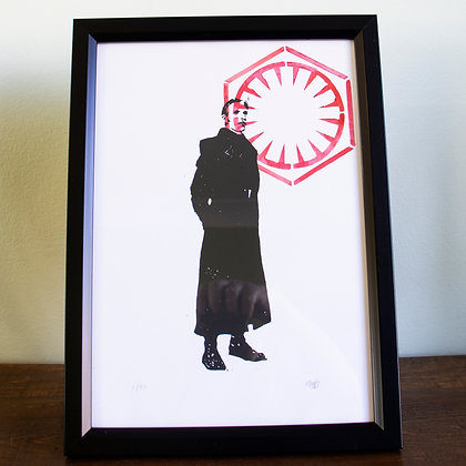 A4 General Hux framed lino print