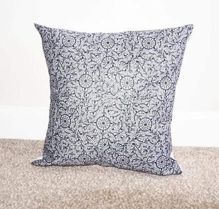 Black and white mandala cushions by Sarah Bell