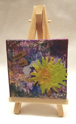 Make art textile art mini canvas