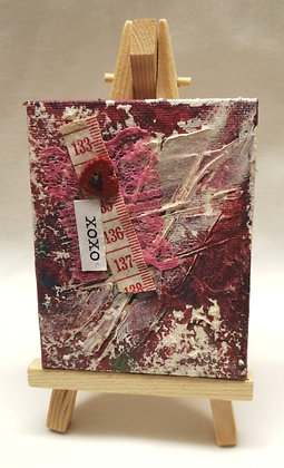 xoxo textile fine art mini canvas