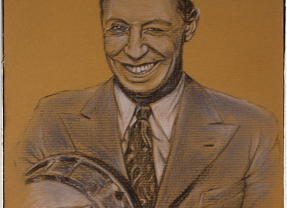 George Formby portrait by Andrew Willis
