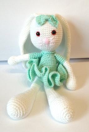 Beautiful crocheted rabbit (small)