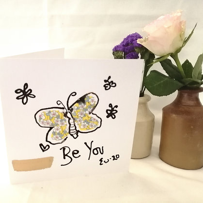 Be you hand drawn card.