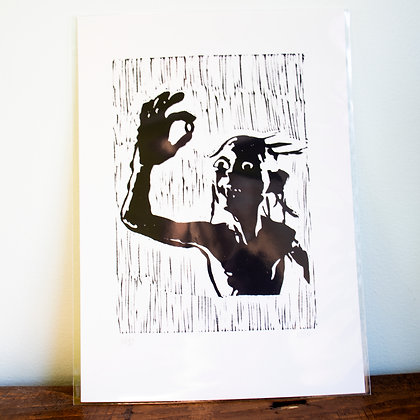 A4 unframed print of Gollum from the Hobbit