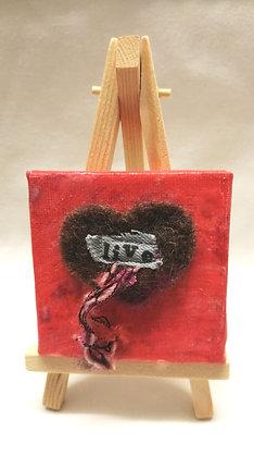Live textile fine art mini canvas