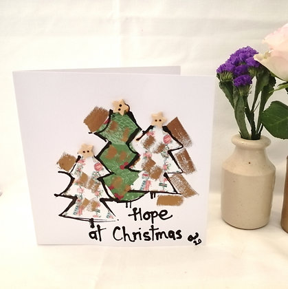 Hope hand drawn Christmas card