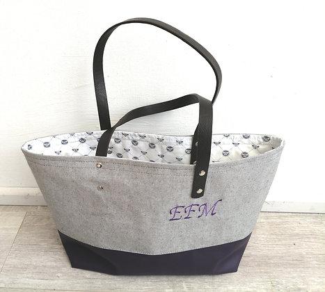 Personalised monogrammed tote bag