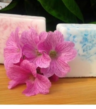 Pretty in pink and Beautiful blue  handmade soap