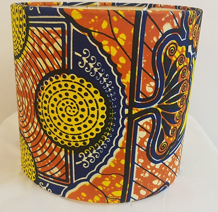 Small African wax design lampshade