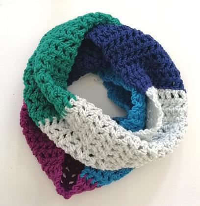 Caron Pantone colour crochet infinity scarf