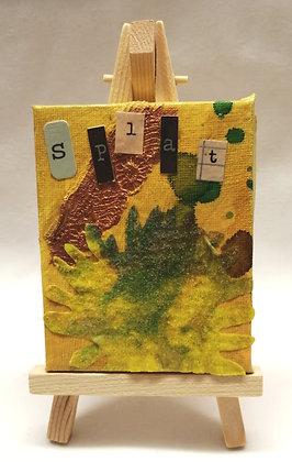 Splat textile fine art mini canvas