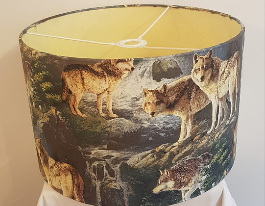 Large wolf light shade