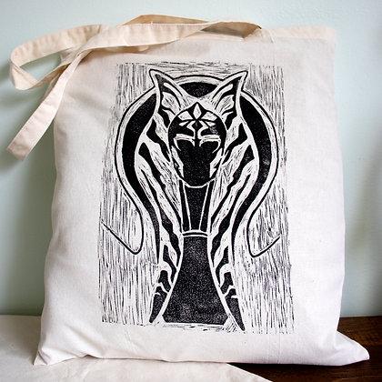 Ahsoka Tano hand printed lino cut tote bag
