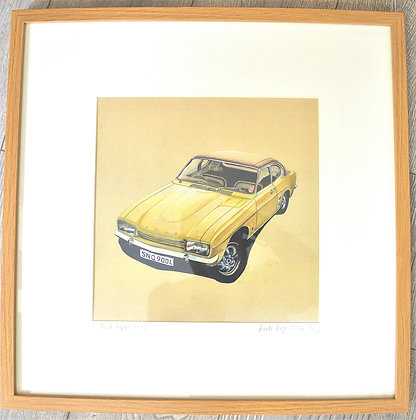 Vintage car print by Linda Page