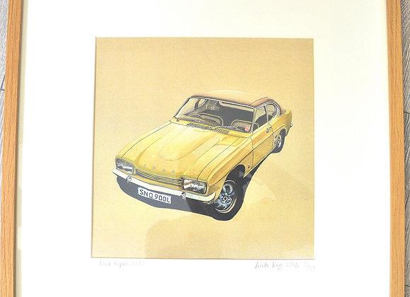 Vintage car print by Linda Page
