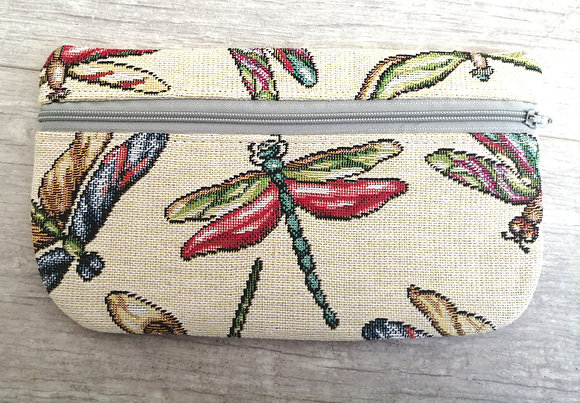 Dragon fly zipped purse