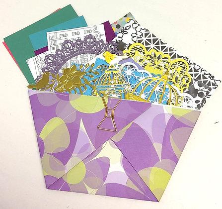 Scrap book journal envelope of delights