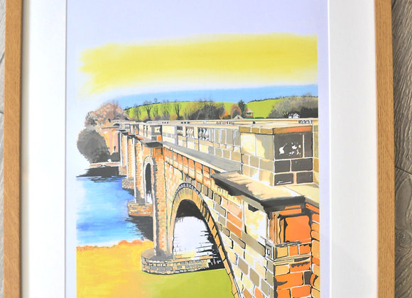 Lancaster canal print by Linda Page